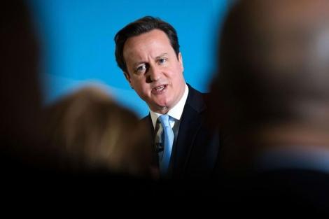 Cameron, durante un discurso sobre inmigración. | Afp