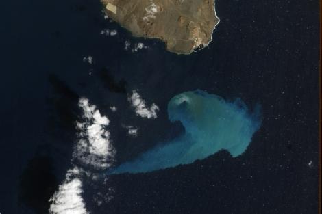 Imagen de El Hierro finalista en el concurso de la NASA. | NASA