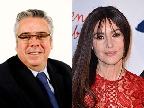 El diputado Sánchez Amor y la actriz italiana Monica Bellucci