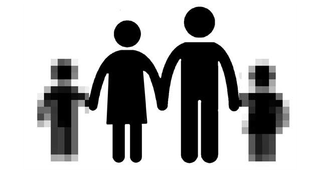 Ilustración de una familia