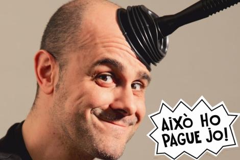 El actor Xavi Castillo y una de las frases que lo han hecho popular. | E.M.