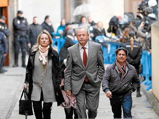 El juez Castro en los juzgados de Palma el pasado 23 de febrero tras la declaración de Urdangarin. | C. Forteza