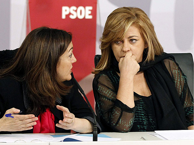 Elena Valenciano y Soraya Rodríguez, en un acto celebrado hoy. | Chema Moya / Efe