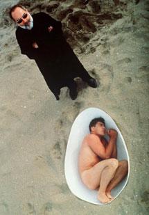 Bardem, junto a Bigas Luna durante un rodaje en 1993.