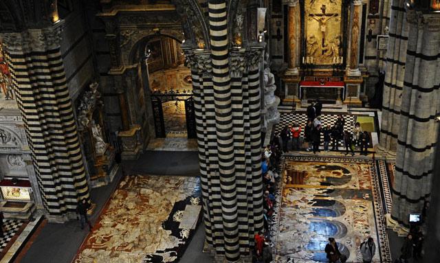 Vista de la catedral de Siena, desde las estancias abiertas al pública.   Efe [VEA MÁS IMÁGENES]