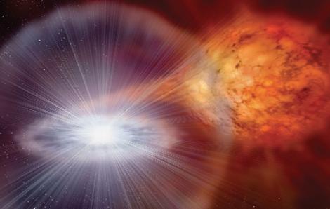 La supernova en una binaria con gigante roja | NASA