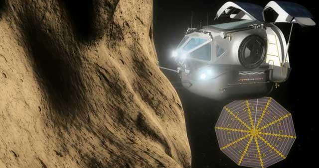 Recración artística de una misión a un asteroide.| NASA