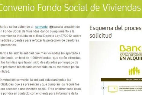 Bankia fondo social de viviendas