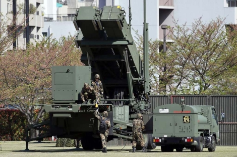 Preparativos en Japón ante un posible ataque de Corea del Norte.   Efe