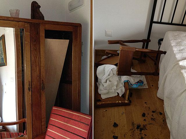 Fotos de algunos de los destrozos en la casa rural. | EL MUNDO