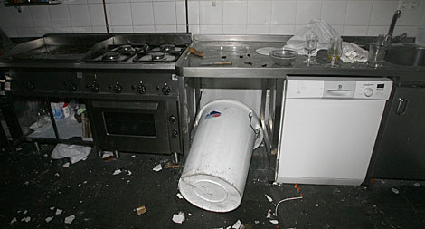 Así quedó la cocina. | Antonio Hernández