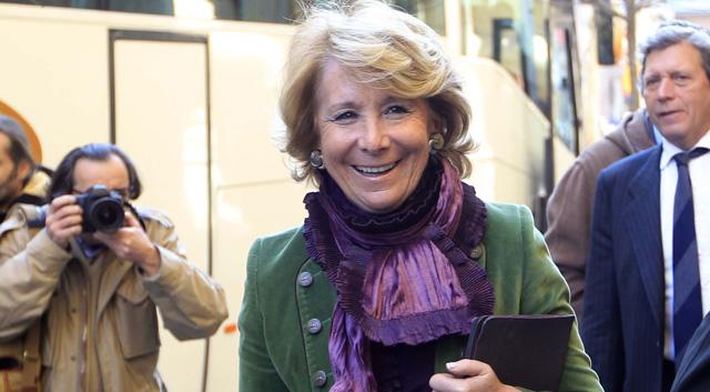 Esperanza Aguirre, el pasado mes de febrero. | Domènec Umbert
