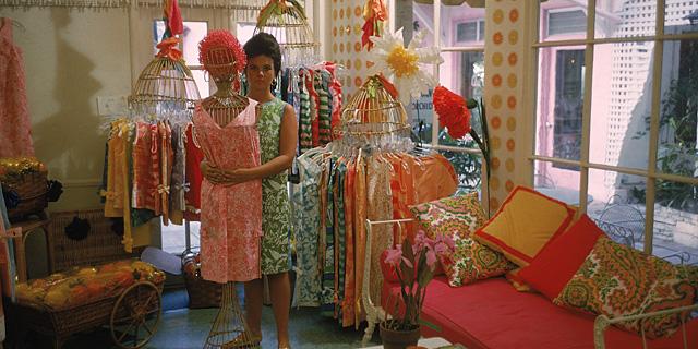 Lilly Pulitzer, en 1962 en su primera tienda.