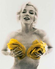 La actriz, fotografiada por Stern en la sesión 'The Last Sitting' (1962.)