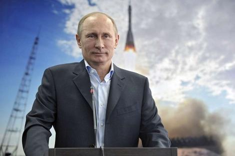Putin durante una chrala hoy con los tripulantes de la Estación Espacial Internacional. | Efe