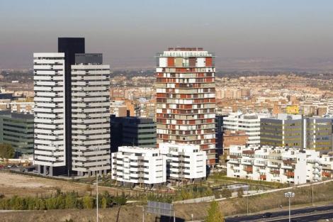 Viviendas en altura en el norte de la capital.   Sergio Enríquez