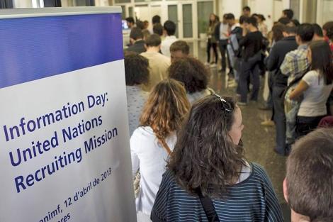 Jornadas de reclutamiento de la ONU celebradas este viernes en valencia | V. Bosch