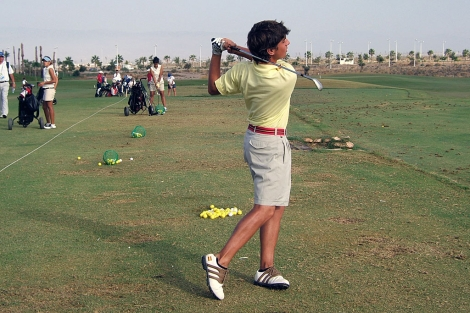 Campo de prácticas del club de golf Alborán.  M.C.