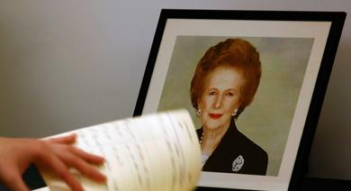 Libro de condolencias por la fallecida Thatcher.   Reuters
