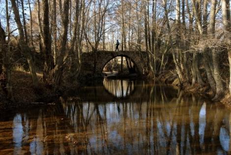 Puente romano sobre el arroyo Jóbalo ( Sieteiglesias)