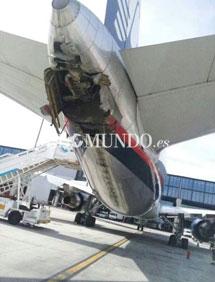 El avión siniestrado. | E.M.