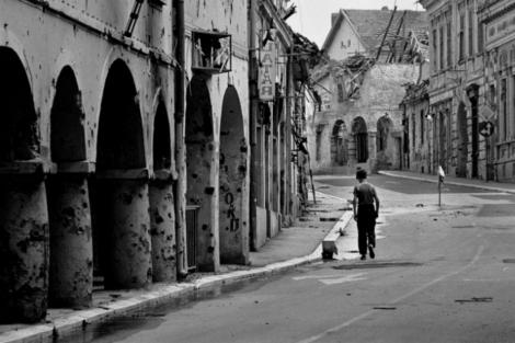 Sarajevo, durante la Guerra de Bosnia.