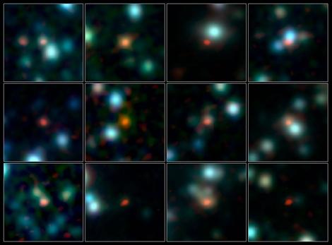 Imagen de las galaxias tempranas observadas por ALMA. | ESO