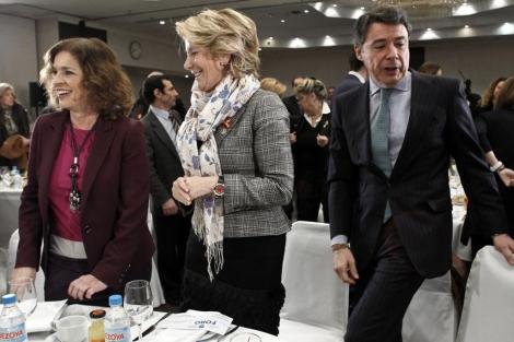 La cúpula del PP de Madrid: Ana Botella, Esperanza Aguirre e Ignacio González. | A. di Lolli