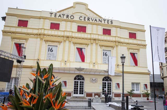 Fachada del Teatro Cervantes de Málaga donde se desarrollará el festival.   J. Domínguez