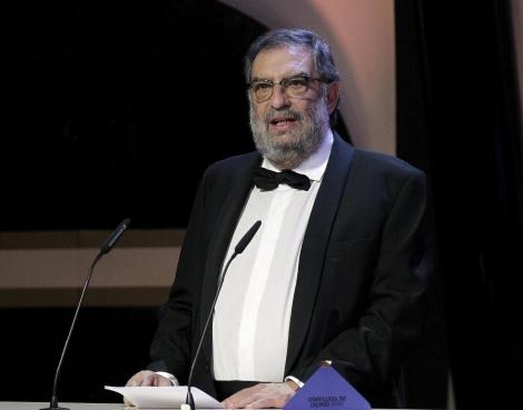 El presidente de la Academia de Cine, durante un discurso