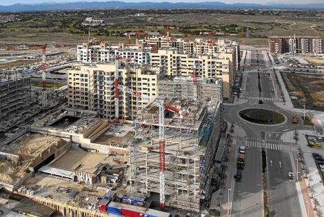 Imagen aérea del barrio de Valdebebas. | E. M.