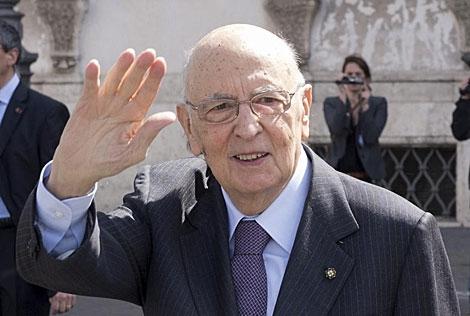 Giorgio Napolitano.   Reuters