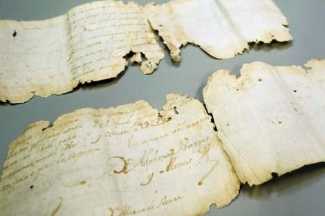 La carta de amor fechada hace 300 años. | Efe