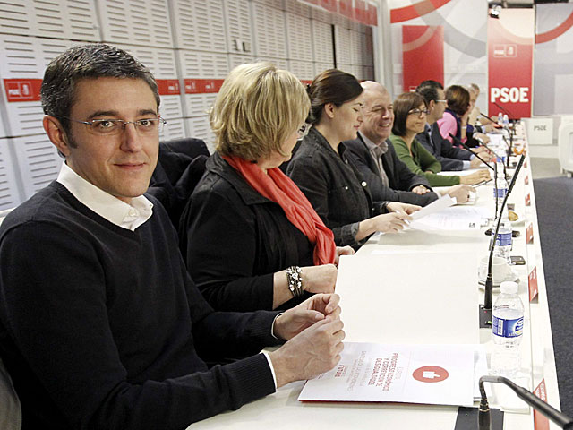 Eduardo Madina, en una Ejecutiva Federal del PSOE. | Fernando Alvarado / Efe