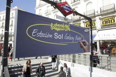 Samsung bautizó la estación de Sol durante varias semanas en 2012. | EM