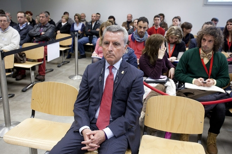Ortega Cano, en el banquillo durante el juicio.   J. Morón