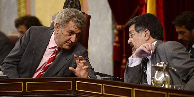 El presidente del Congreso, Jesús Posada, durante el pleno de hoy. | Bernardo Díaz