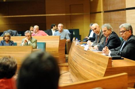 Reunión entre los responsables de Bankia y alcaldes de municipios valencianos   E.M.