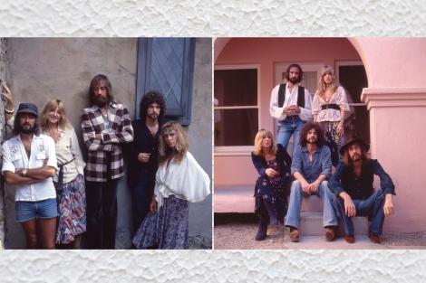 Dos retratos de grupo de Fletwood Mac durante sus años salvajes. | Sam Emerson