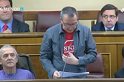 Baldovi en la sesión de control.   Captura de TVE