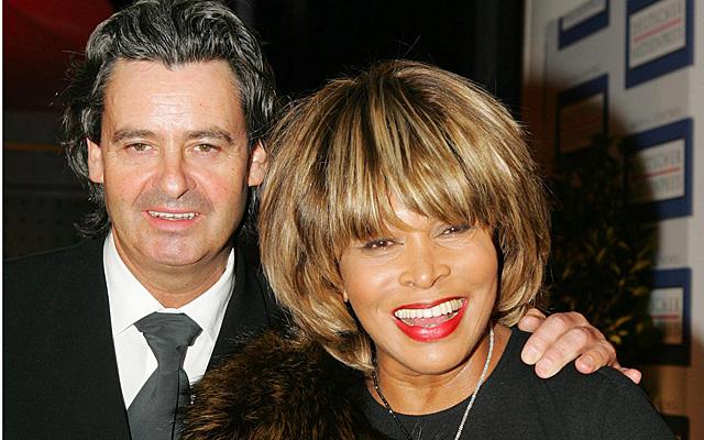 Tina Turner y Erwin Bach en los premios Aleman en 2004