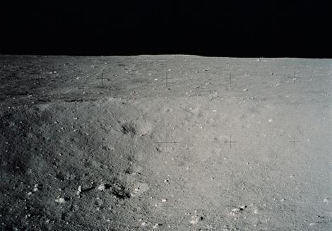 Imagen de la superficie lunar captada durante la misión Apolo 11. | NASA