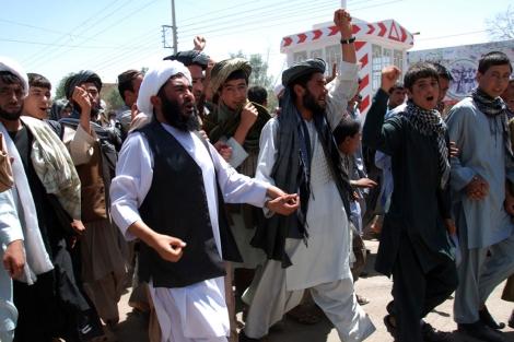Una manifestación de mulás en Qala-e-now, en una imagen de archivo. | Mònica Bernabé