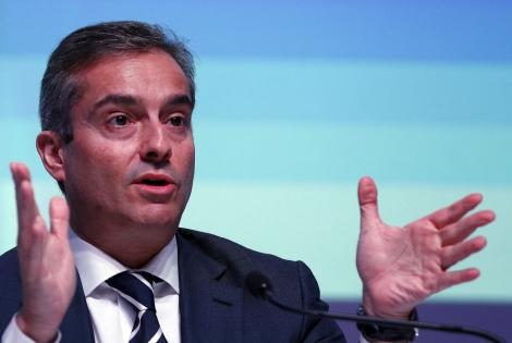 ángel Cano, máximo ejecutivo, durante la presentación de resultados. | Javier Barbancho