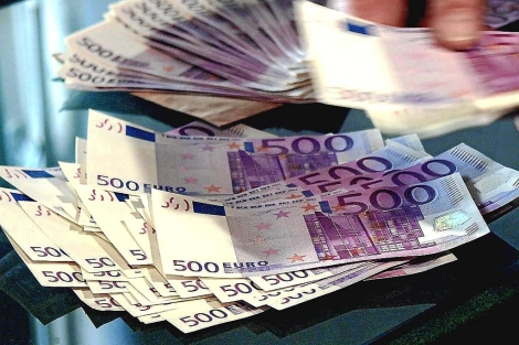 Imagen de billetes de 500 euros