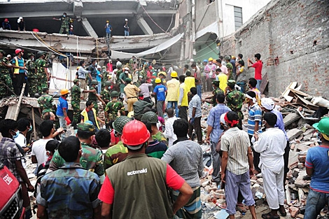 Rescate en el edificio derrumbado en Bangladesh
