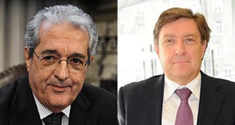 Fabrizio Saccomani y Enrico Giovannini, titulares de Economía y Trabajo, respectivamente.