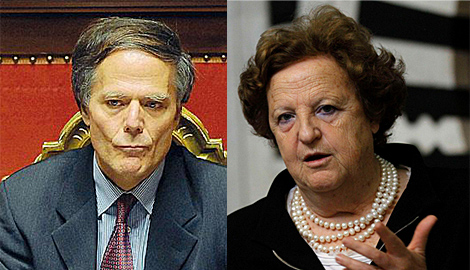 Moavero Milanesi, titular de Asuntos Europeos, y Cancellieri, ministra de Justicia.| Efe