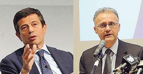 Maurizio Lupi, al frente de Transportes, y Mario Mauro, en Defensa.