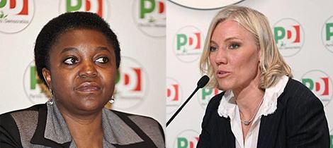 Cecile Kyenge, titular de Integración, y Josefa Idem (dcha), en Igualdad y Deporte.